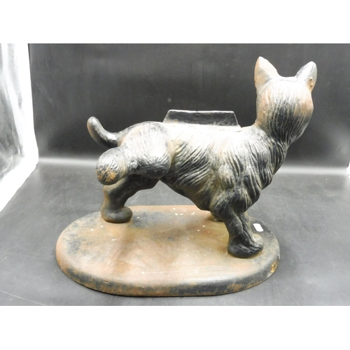 349 - Vintage Heavy Cast Iron Scottie Dog Boot Scraper (15