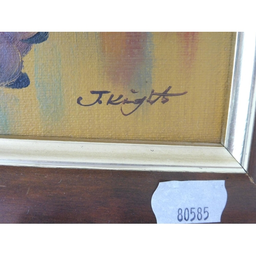 10 - Still Life Oil on canvas signed by the artist J Knight 11