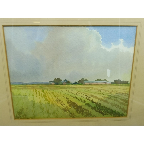 17a - G M Butterworth Framed and Glazed Watercolour of Lunt (18