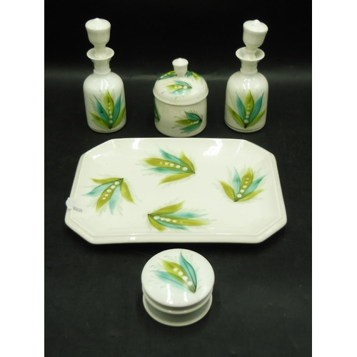 35 - Ceramic Plate with Condiment pots/Dishes...