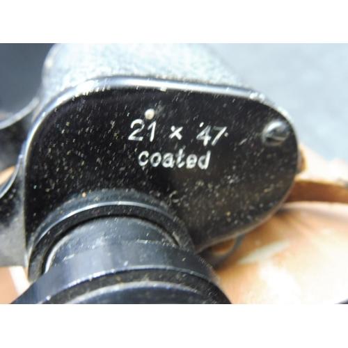 36 - Pair of Lieberman & Gortz 21 x 47 Binoculars in Case...