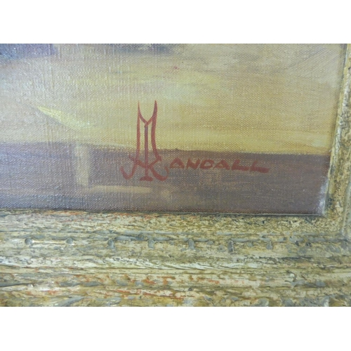 43 - Framed Oil on canvas Singed Randall Approx. 26