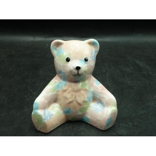 72 - Ceramic teddy bear by Park Rose Bridlington in the famous floral print....