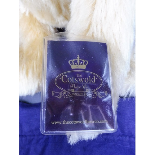 91 - Limited Edition Cotswold Bear Co, Blonde Bear, Humped Back, Long Paws with Larger Feet and Storage B...