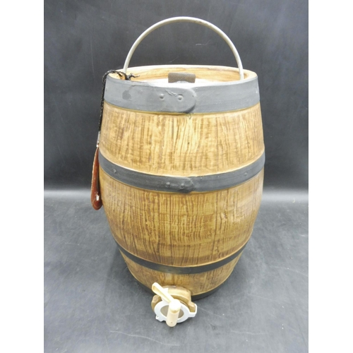 138 - Ceramic Cider Barrel 13