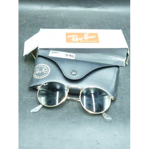 165 - Ray-Ban Aviator Sun Glasses in Pouch and Boxed...