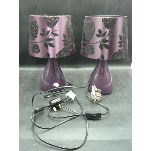 204 - Pair of Purple Table Lamps...