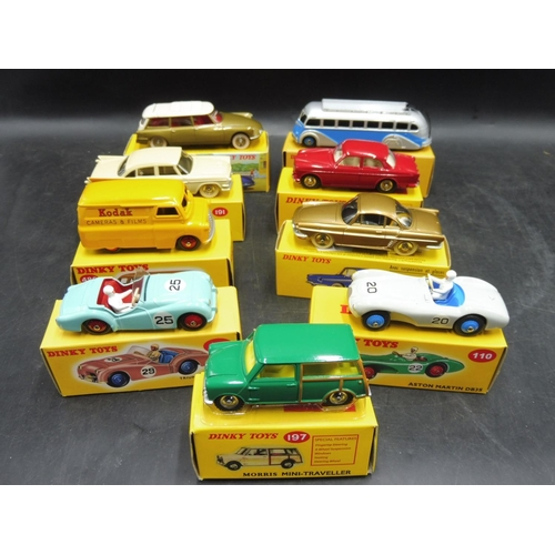 224 - Selection of 9 Dinky Boxed Vehicle's including Aston Martin DB3S, Triumph TR2 Sports and More...