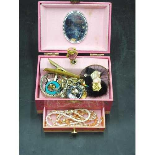 255 - Musical Childrens Jewellery Box and Contents (Working When Tested)...
