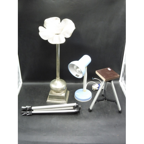 301 - Mixed lot to include Lamp, Bud Vase Style Candle Holder and other...