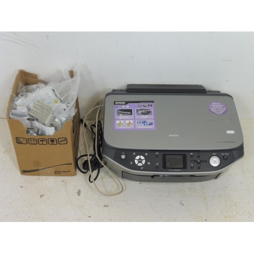 308 - Epson Stylus Photo RX640 Printer complete with Leads and extremely Large collection of Ink Cartridge...