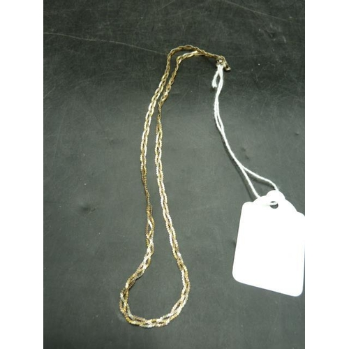 338 - Marked 925 Gold On Silver Necklace...