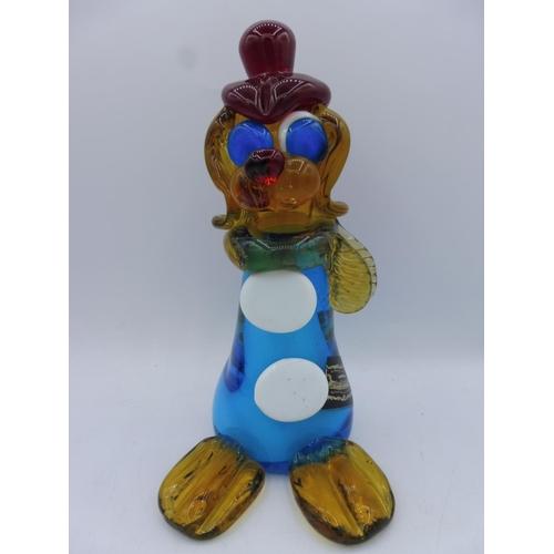 373 - Murano Venetian Glass Company Dog Dressed as Clown (8