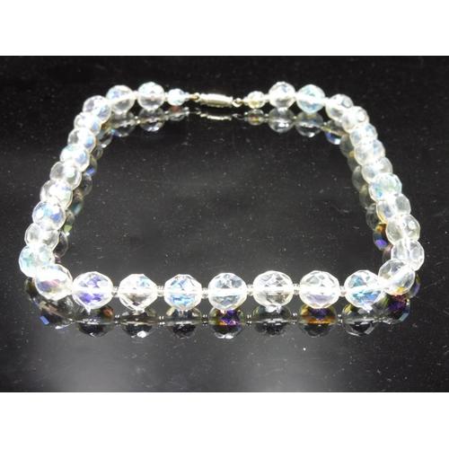 418 - Vintage aurora borealis necklace Complete with Case...