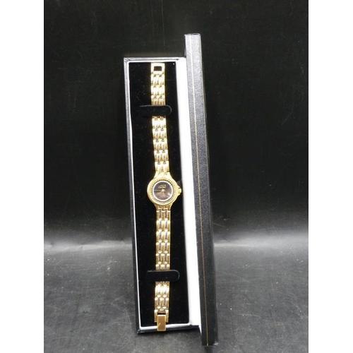 450 - Gold Tone Watch in presentation...