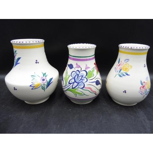 472 - Three Poole Pottery Vases (7