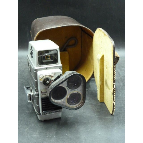 29 - Bell and Howell Cine Camera Autoset Turret In Leather Case...