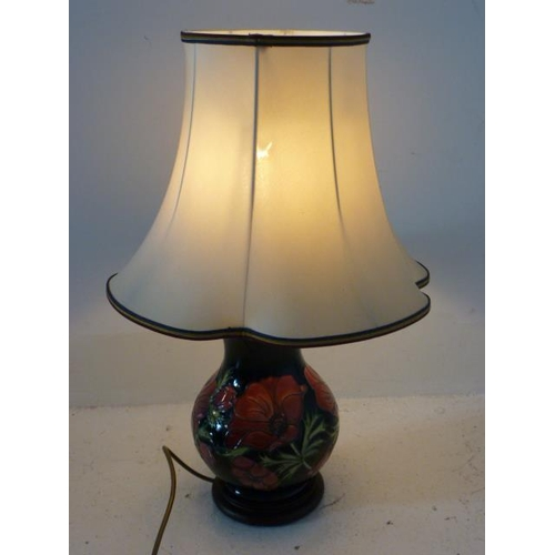 49 - Moorcroft Table Lamp in the Pansy Pattern Complete with Shade (Working When Tested) 24