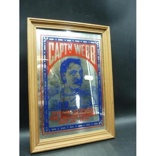 50 - Framed Mirror of Captain Webb