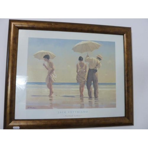 57 - Wall Hanging Framed and Glazed Jack Vettriano Print 22.5
