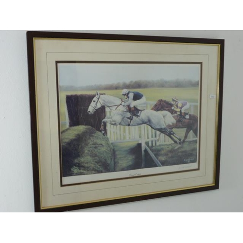 58 - Framed and Glazed Print Entitled Desert Orchid signed by the artist to the bottom right corner (26 x...