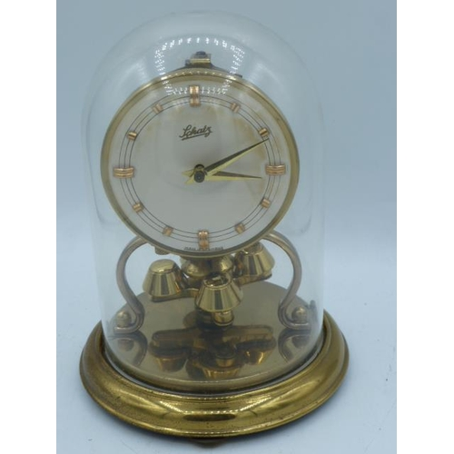 59 - Brass Dome Mantle Clock 6