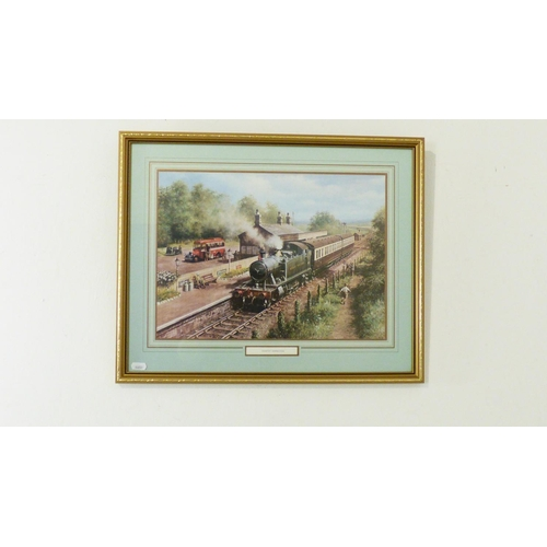 65 - Framed and Glazed Print entitled Country Connection (21
