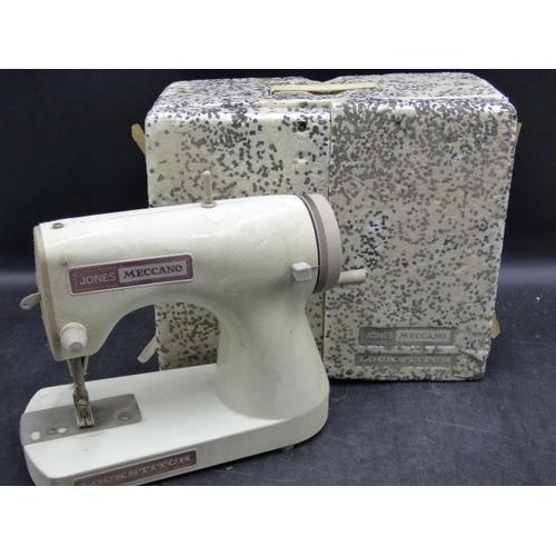 125 - A Vintage Jones Meccano Lockstitch Sewing Machine...