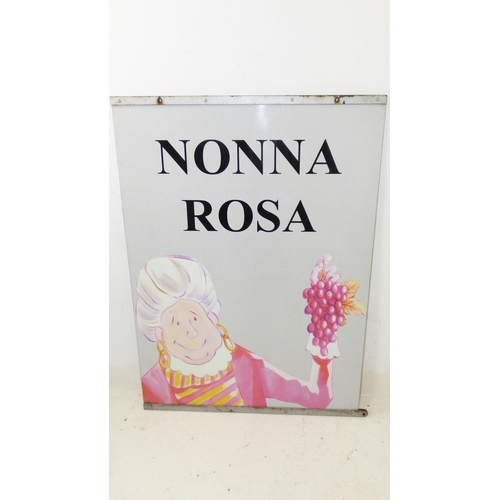 149 - Large Nonna Rosa steel sign (45
