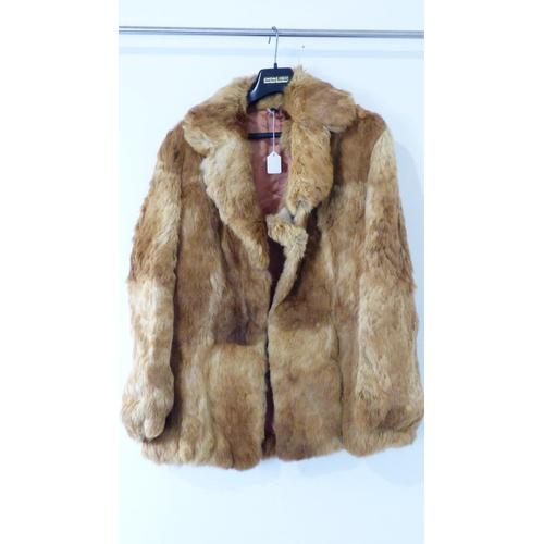 196 - Unknown Fur Coat Size 42/12...