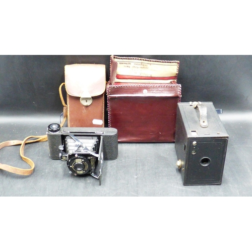 234 - Kershaw Eight-20 Penguin Camera and Case together with Kodak Box Brownie No 2A...