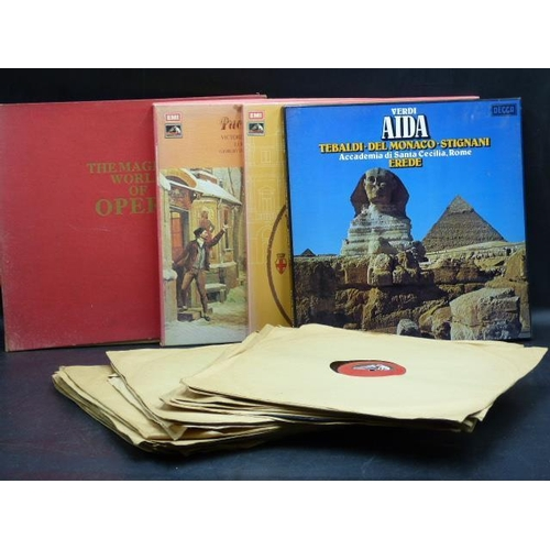308 - Selection of Vinyl including The Magical World of Opera Folder set...