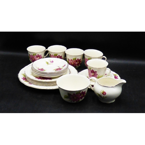 309 - Twenty Piece Midwinter Floral Tea Set...
