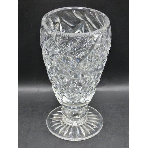 343 - Heavy Crystal Vase (10