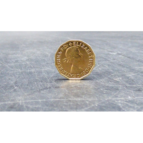 366 - Gold Plated 1967 Three Penny Coin...
