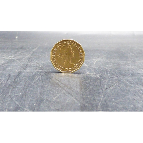 368 - Gold Plated 1967 Three Penny Coin....