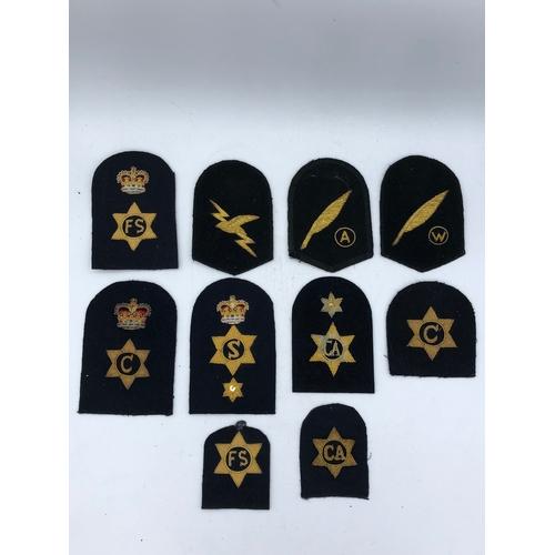 5 - Ten different Royal Navy Gold Bullion Badges...
