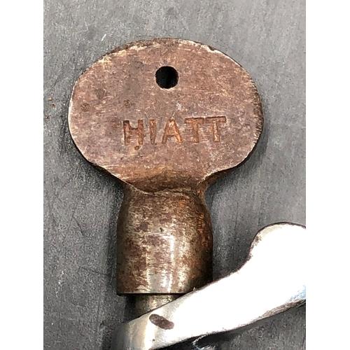 12 - Vintage Derby Pattern Police Handcuffs made By Hiatt with a Hiatt Marked to Key and cuffs...