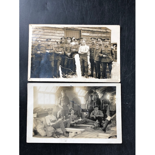 28 - Eight Real Photograph Postcards WWI Period relating to Harold Buchan. Reative probably Father of RAF...