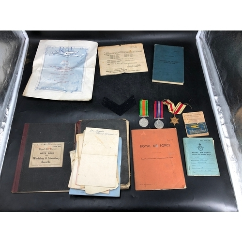 37 - WWII RAF ephemera all relating to Corporal F Buchan, Served in The RAF from 1940-1946. Observers and...