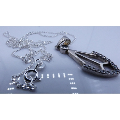 17 - Silver 925 Pendant On Chain Complete with Presentation Box...