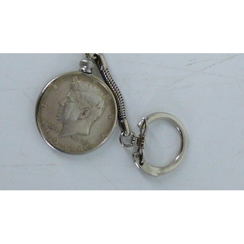43 - Kennedy Silver Half Dollar in Key Ring (Loose)...
