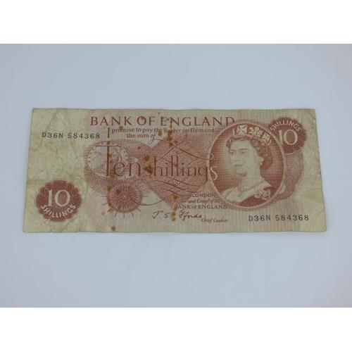 53 - J S Fforde Ten Shilling Note RB27 1967 LNNL Series 'C'...