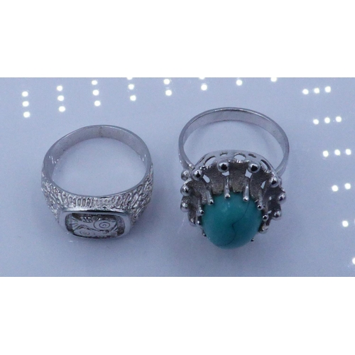 66 - Two Dress Rings...