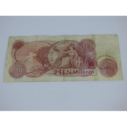 108 - J S Fforde Ten Shilling Note RB26 1967 NNL Series 'C'...
