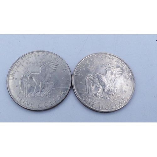 112 - Two Eisenhower Liberty One Dollar's...
