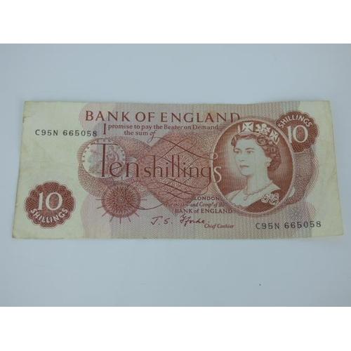 114 - J S Fforde Ten Shilling Note RB27 1967 LNNL Series 'C'...