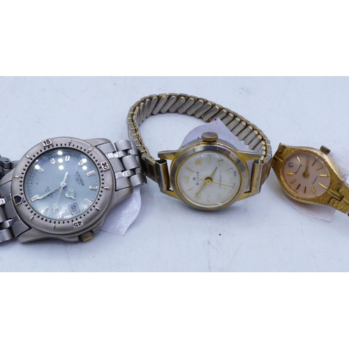 132 - Three Watches to include Sekonda Accurist and one other...