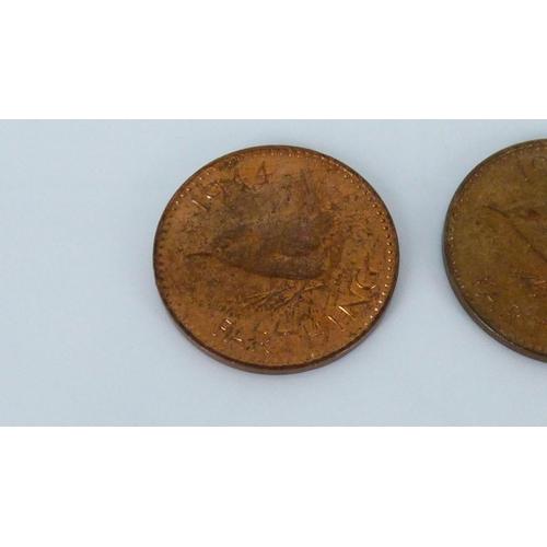 228 - Three Uncirculated farthings 1944, 1947 & 1949...