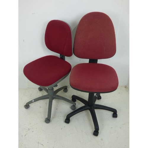 663 - Two Red Office Chairs...